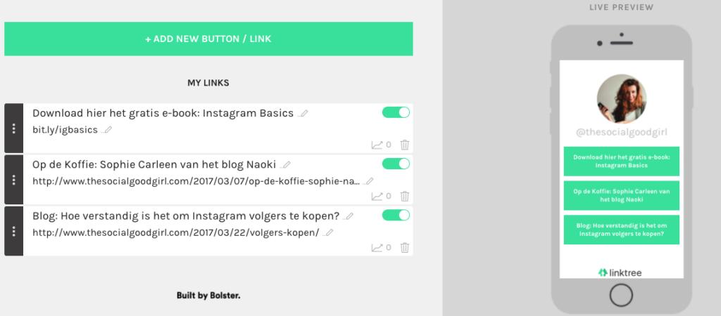 Hoe voeg je meerdere links toe aan je Instagram account?